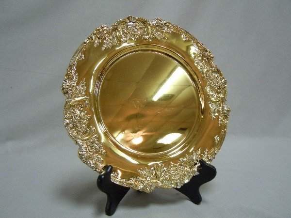 173: Francis I Vermeil Sterling Silver Dish