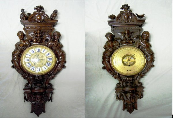 401: French Carved Barometer and Clock
