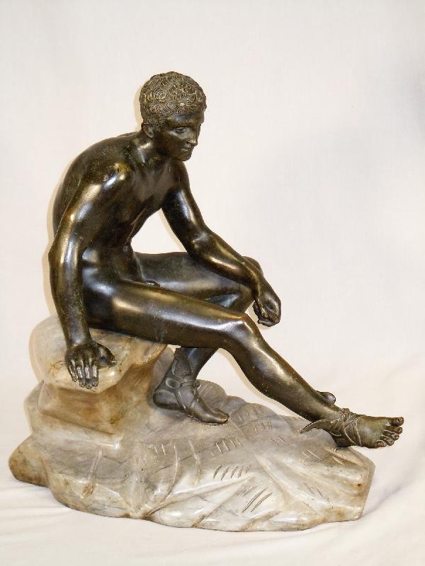 404: Antique Hermes Bronze on Marble Plinth