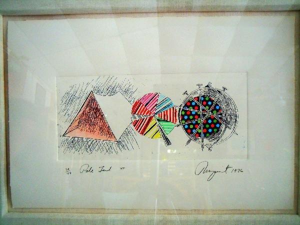 "405: James Rosenquist Lithograph, ""Pale Tent Pi"""