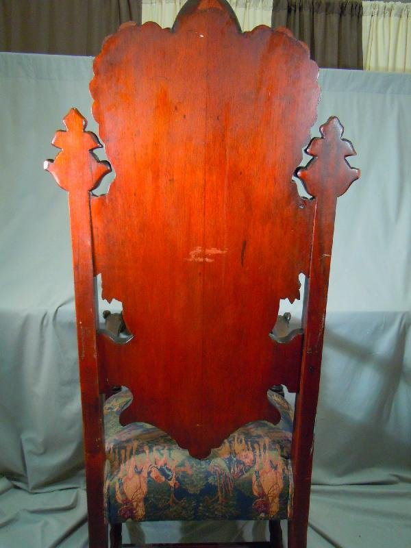 406: Well Carved Arm Chair with Dog's Heads - 5