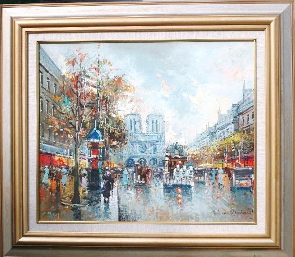 410: Antoine Blanchard, Oil on Canvas