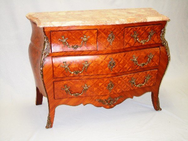 411: Marble Top French Commode