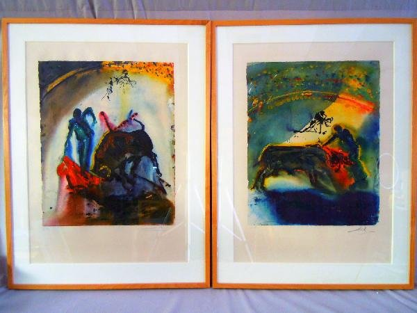 417: Two Salvador Dali Lithographs