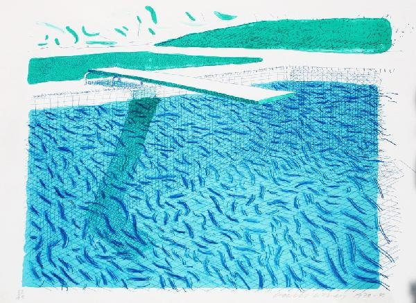 """448: David Hockney, """"Lithograph of Water"""""""