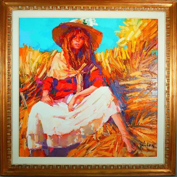 469: Nicolai Simbari, Oil on Canvas