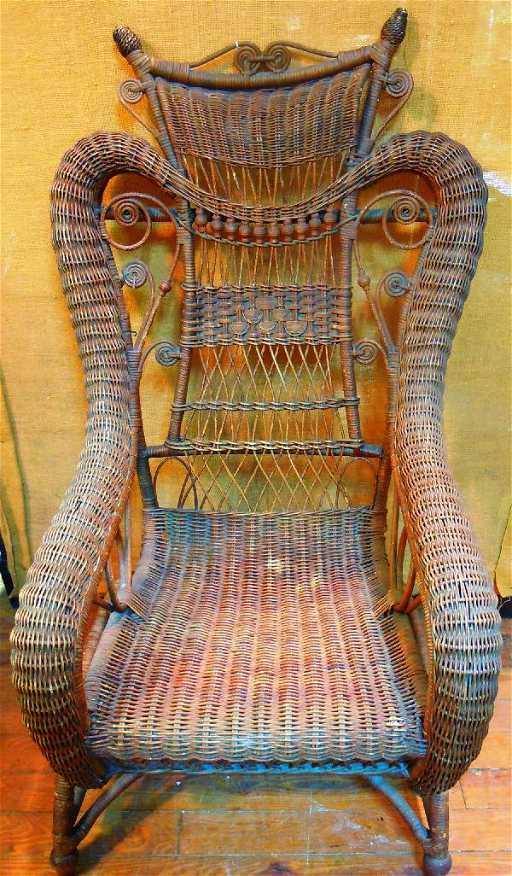 - 532: Antique Wicker Rocking Chair