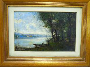 612: Alexander Harrison, American Oil on Canvas