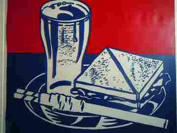 """2: Roy Lichtenstein, """"Sandwich and Soda"""", 1964"""