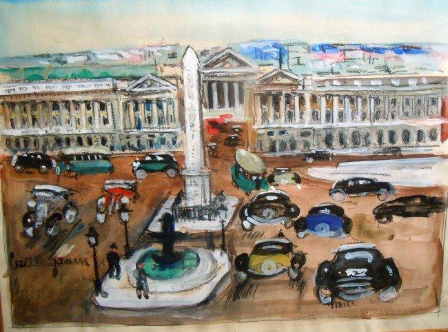 """4: Lucien Genin, """"La Place De La Concord"""", circa 1950"""