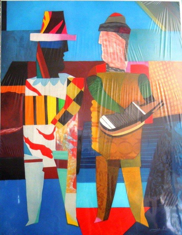 """7: Max Papart, """"Deux Musiciens"""" 1989"""