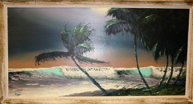 18: Alfred Hair, Highwaymen, Oil on Upsom Board