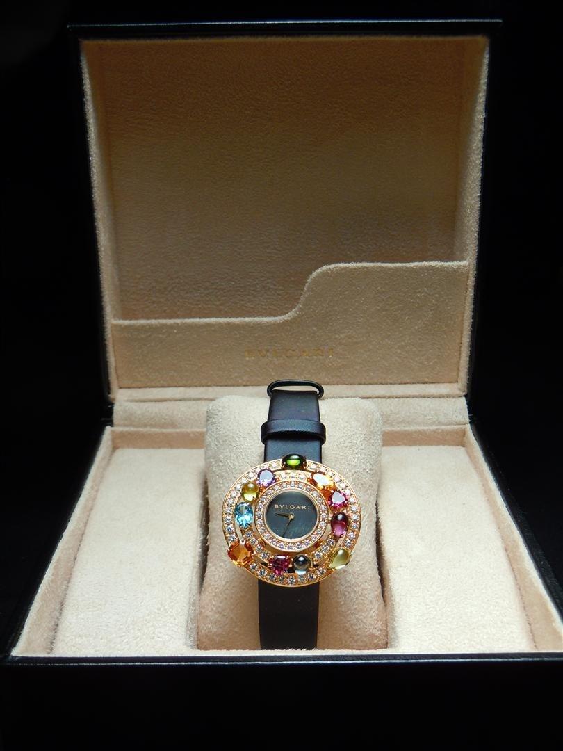 3: 2005 18KYG & Diamond Astrale Bvlgari Watch - 2