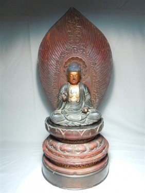 Japanese Lacquer Buddha