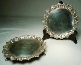 5: Pair of Early Silver Irish Salvers