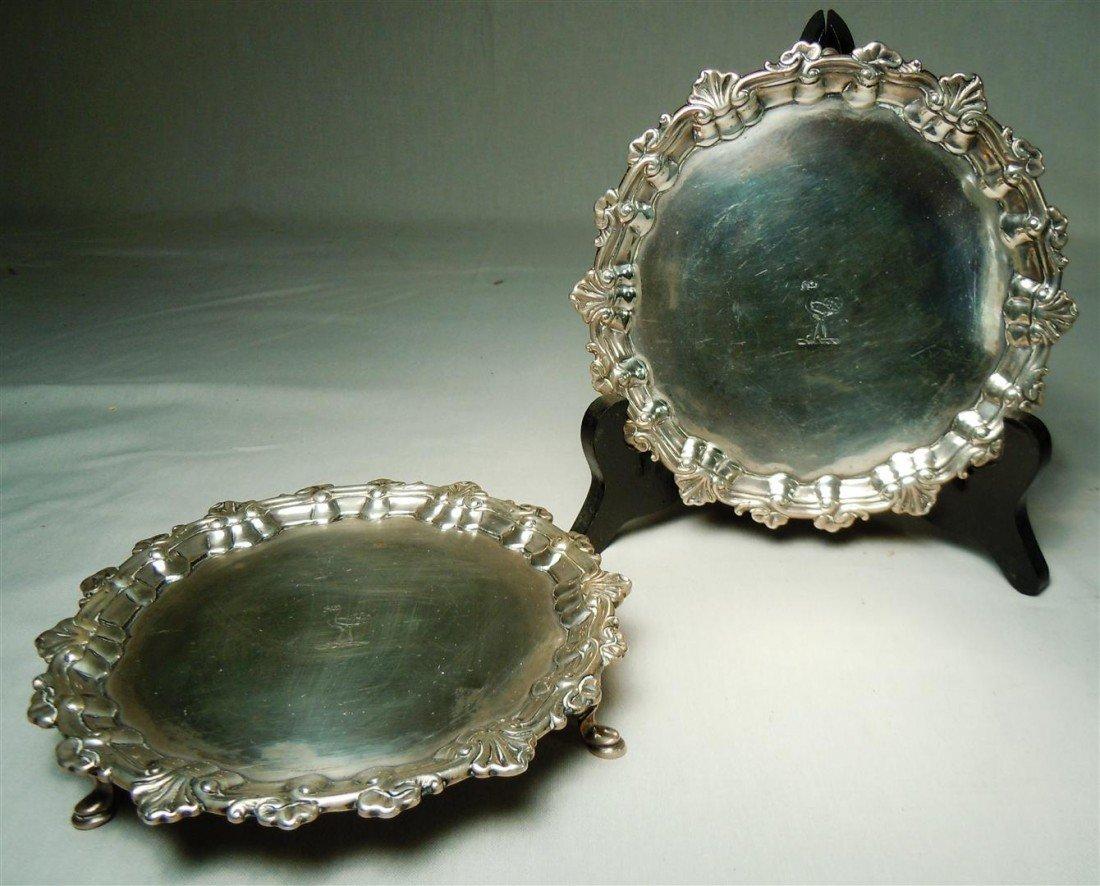 5: Pair of Early Silver Irish Salvers