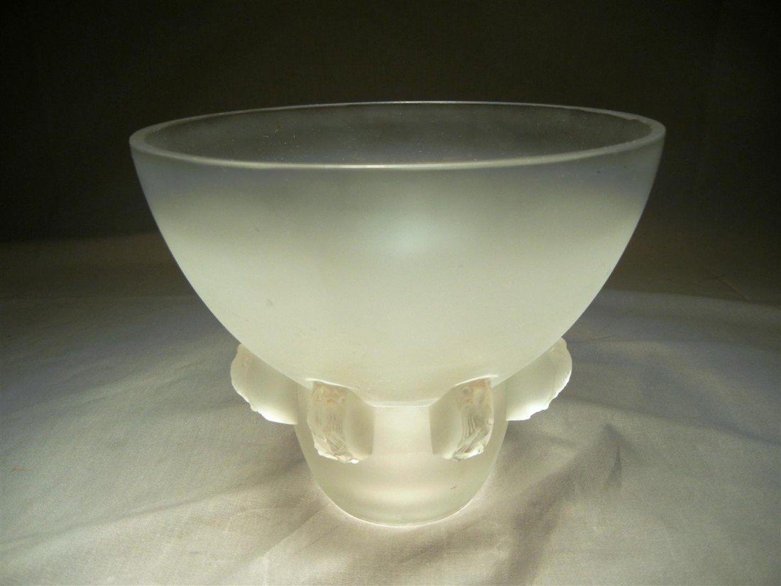 6: Rene Lalique Frosted Vase