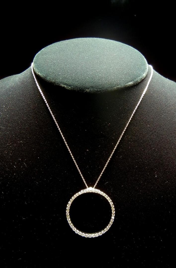 14: 18KWG & Diamond Necklace by Roberto Coin