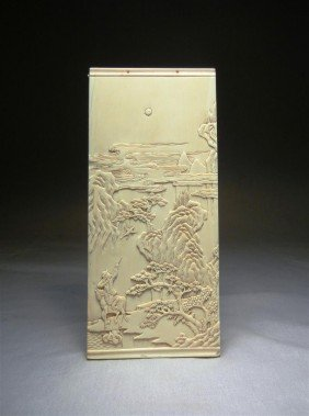 20: Antique Chinese Ivory Plaque