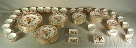 "23:  Royal Crown Derby, ""Asian Rose"" Partial Dinner Set"