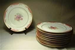 214 Ten Ovington BrosRosenthal Bavaria Dinner Plates