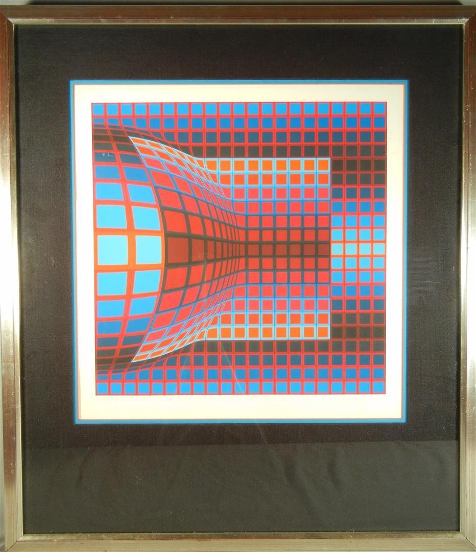14: Victor Vasarely Lithograph