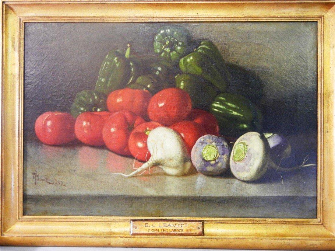 19. Edward C. Leavitt, American, Oil on Canvas
