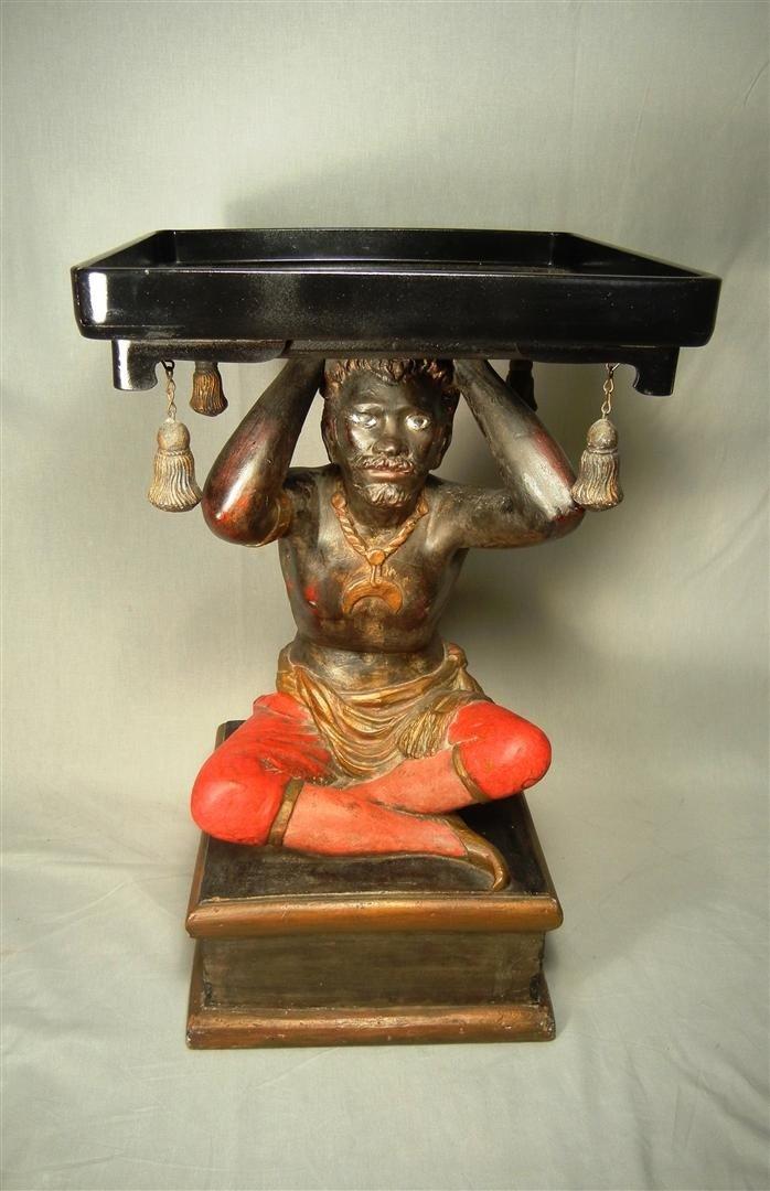 20: Jo Mead, Plaster Blackamoor Figural Stand