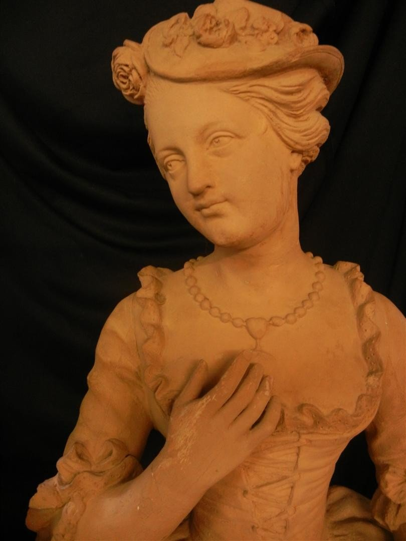 1: French Life Size Terracotta Sculptures - 2
