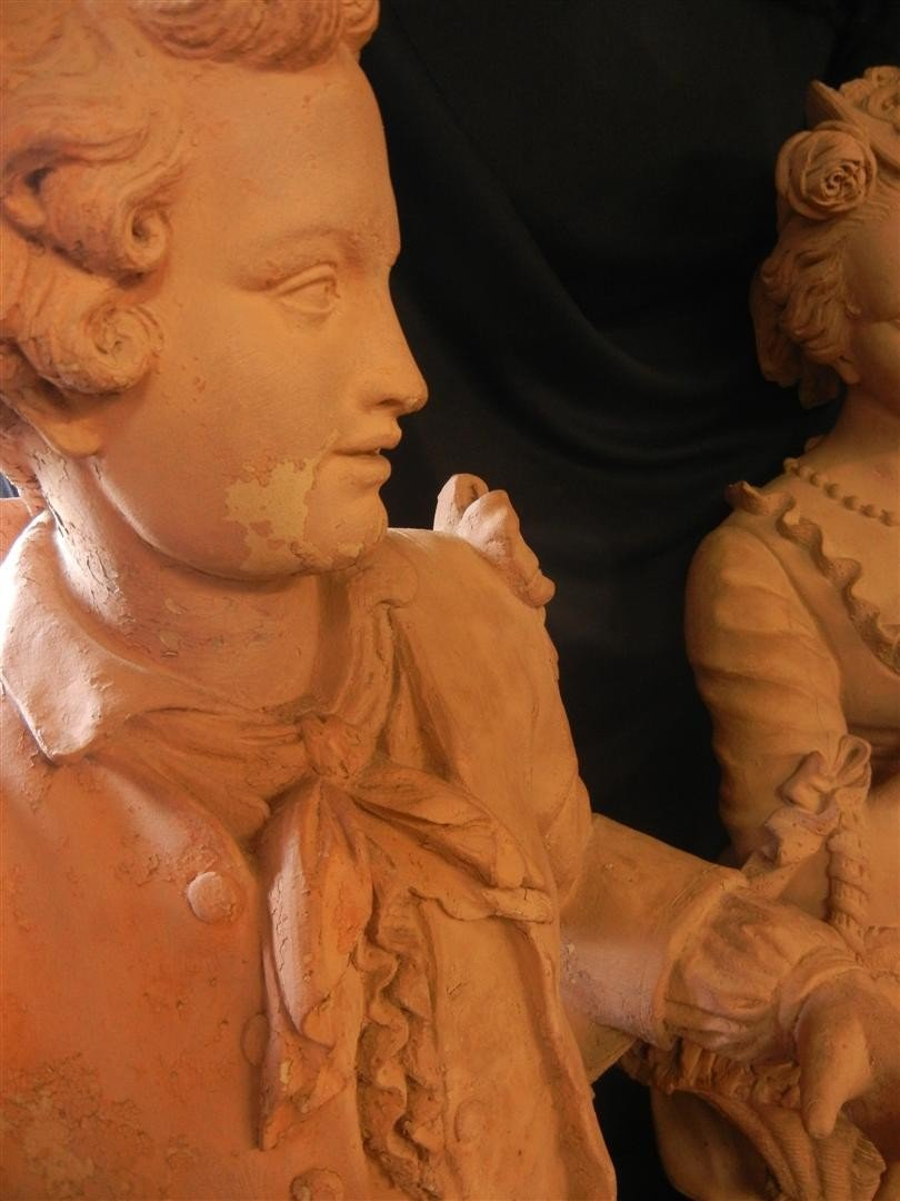 1: French Life Size Terracotta Sculptures - 3