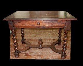 Early X-Stretcher Based Mahogany Table