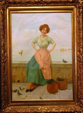 Luigi Mion, Oil On Canvas
