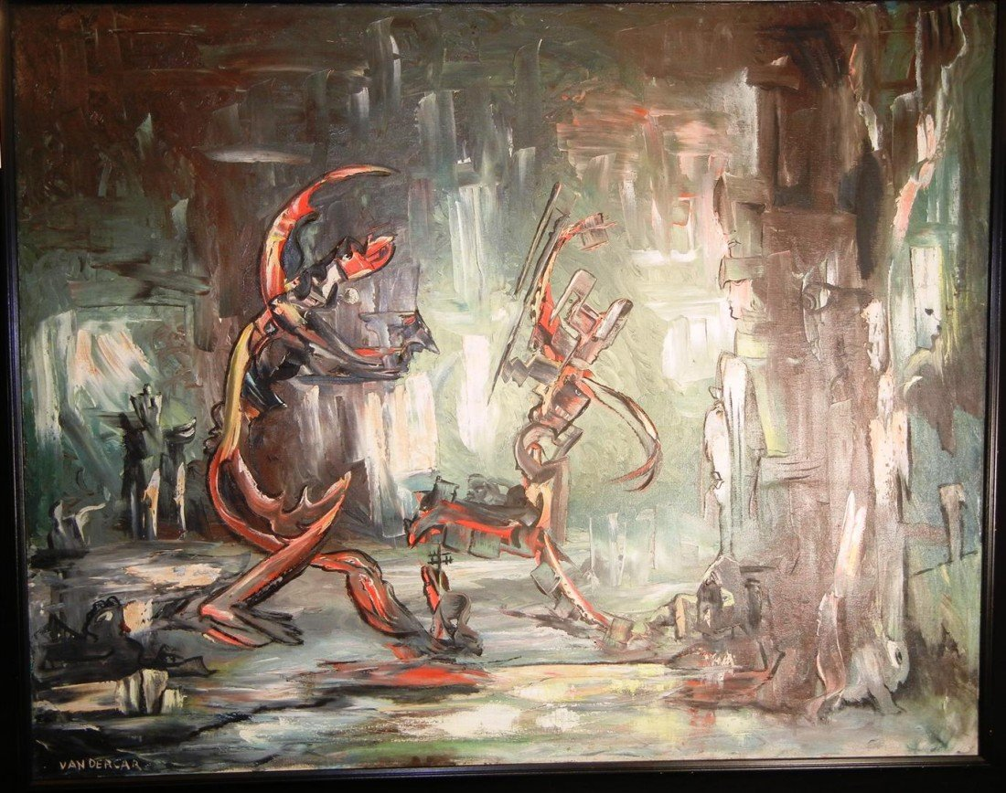 131: Florida Artist Lewis Vandercar, O/C