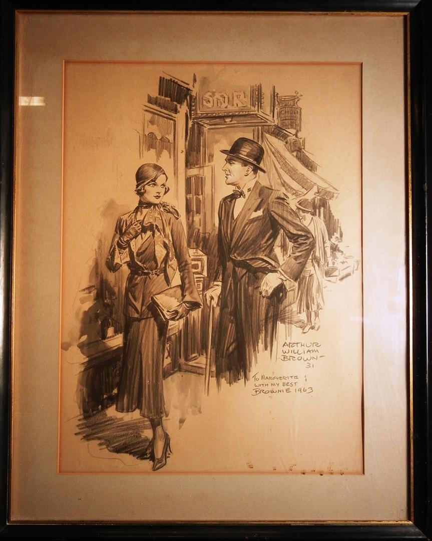 182: Arthur William Brown, Pencil & Charcoal