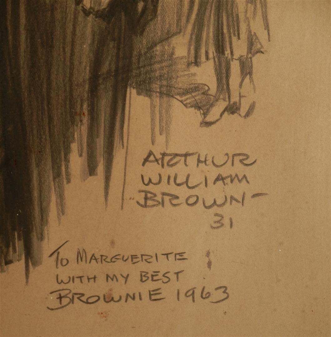 182: Arthur William Brown, Pencil & Charcoal - 2