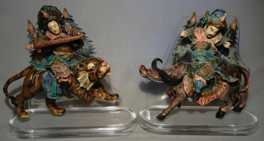 7: Pair of 19thc. Chinese Roof Tiles