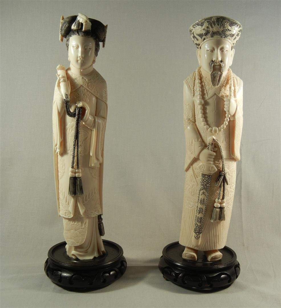 20: Well Carved 20thc. Chinese Ivory Figures
