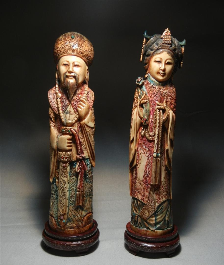 39: Polychrome Ivory Emperor and Empress