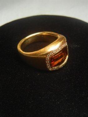 18K Tourmaline & Diamond Ring