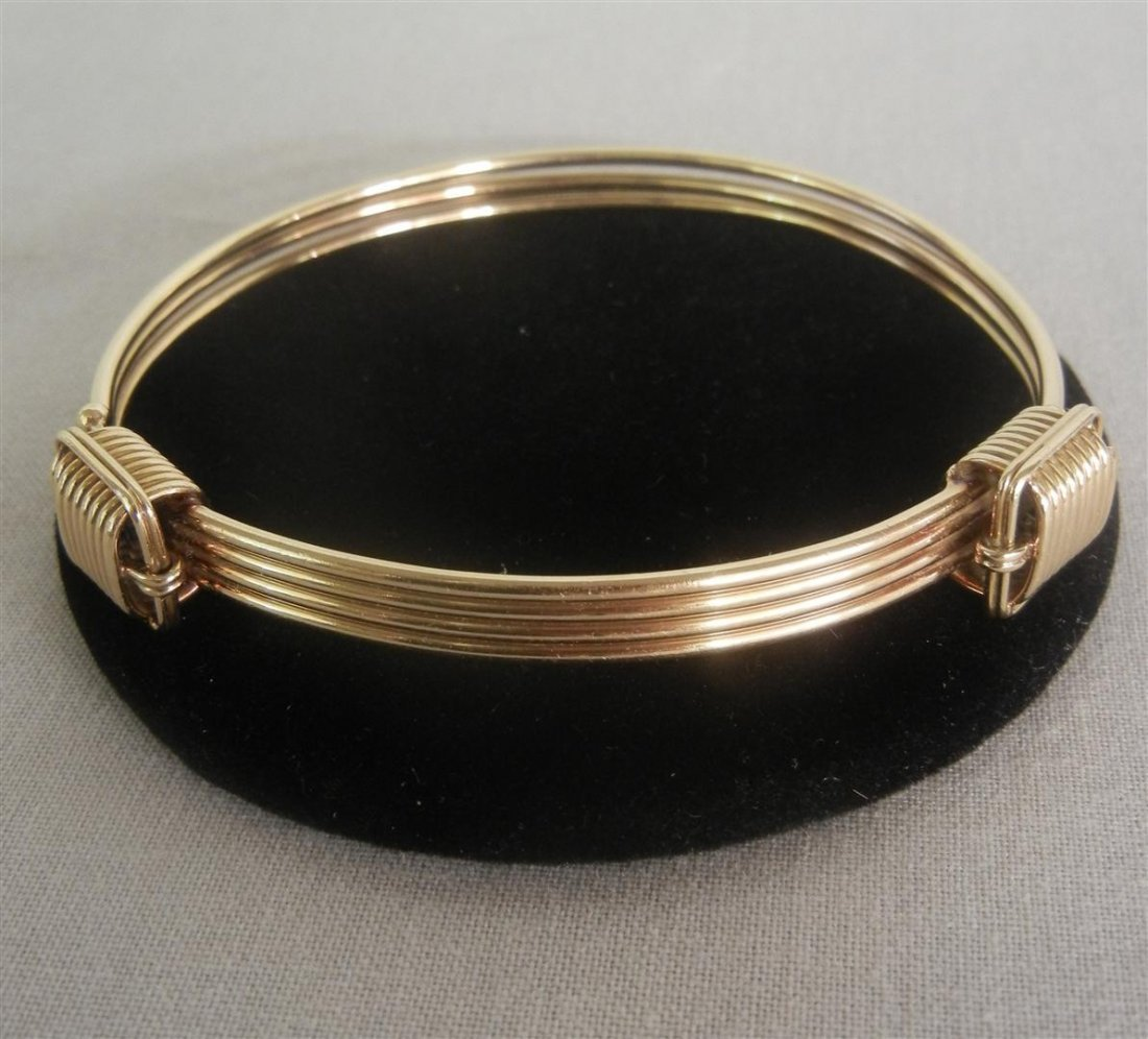 48: 14KYG Tiffany Ladies Bangle Bracelet
