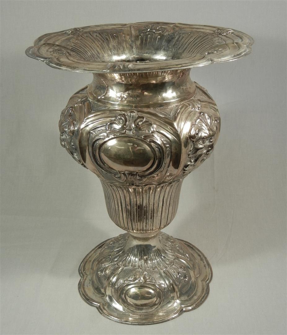 49: Large 800 Silver Vase