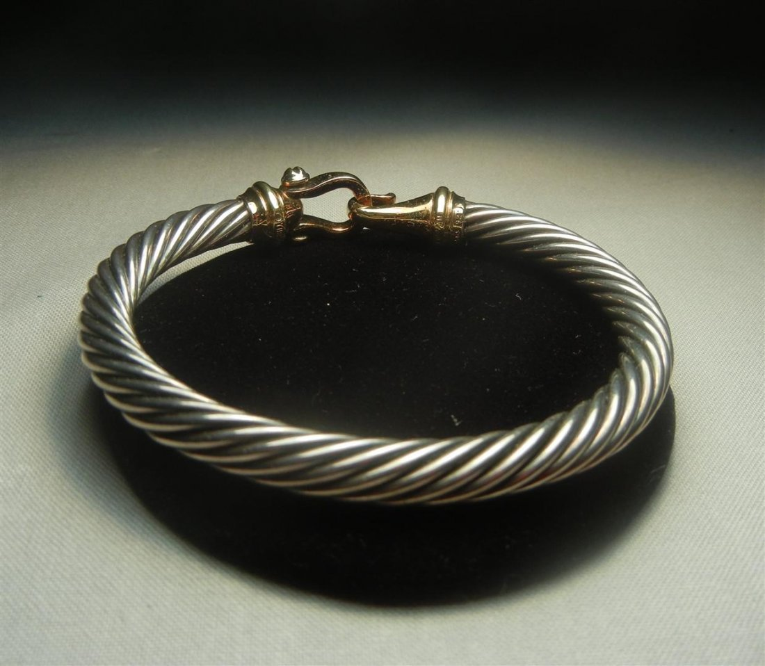 56: David Yurman 14KYG & Silver Bracelet