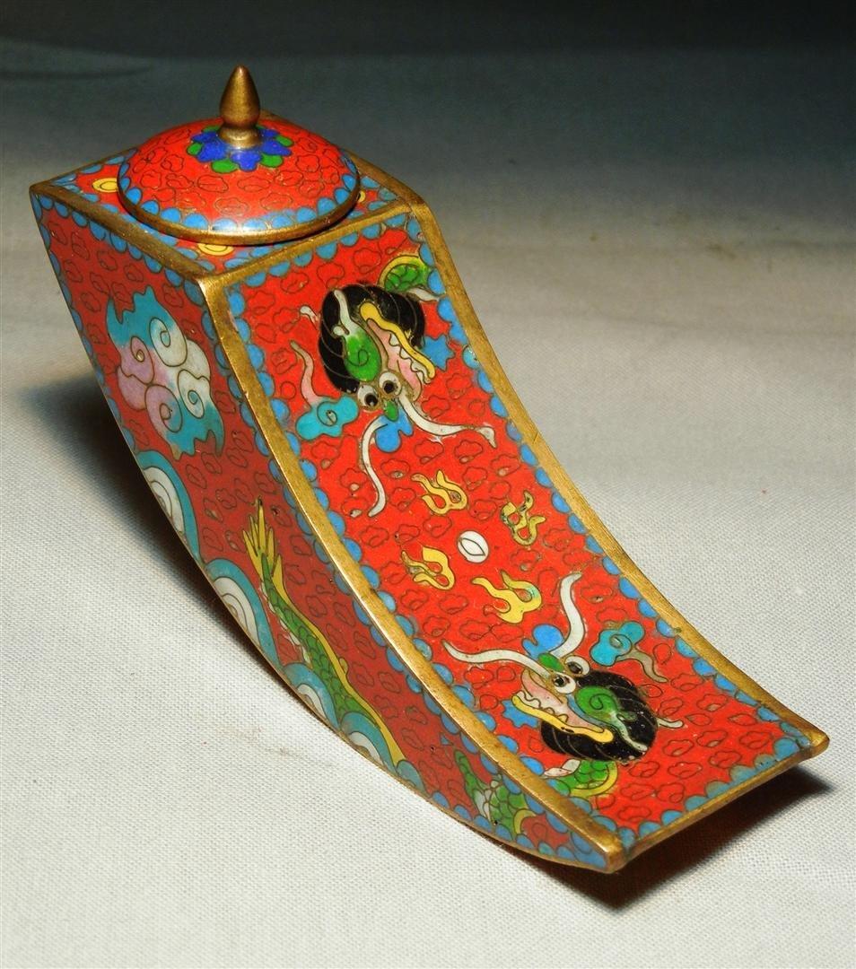 59: 19thc. Chinese Cloisonne Box