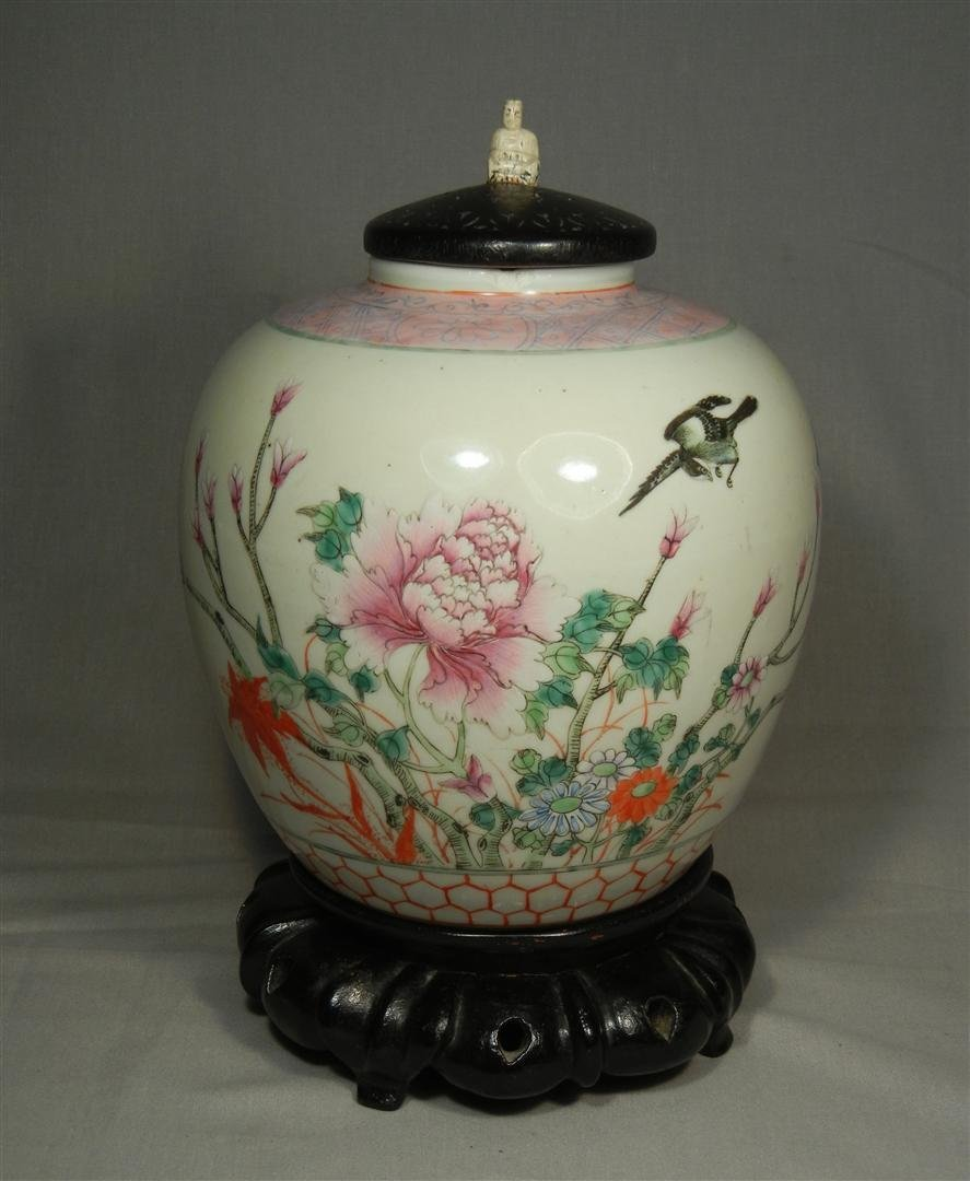 61: 19thc. Chinese Porcelain with Top