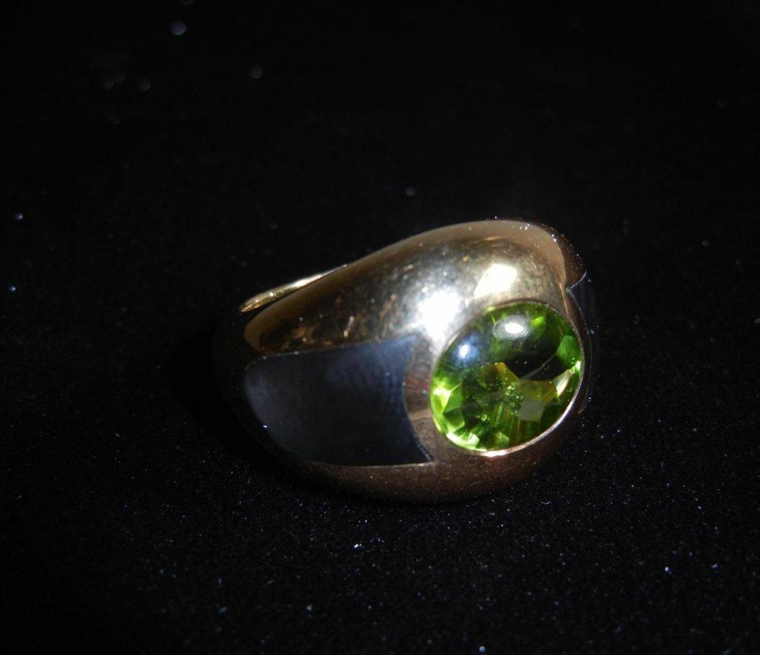 74: Mauboussin Paris 18k Yellow Gold Peridot Ring
