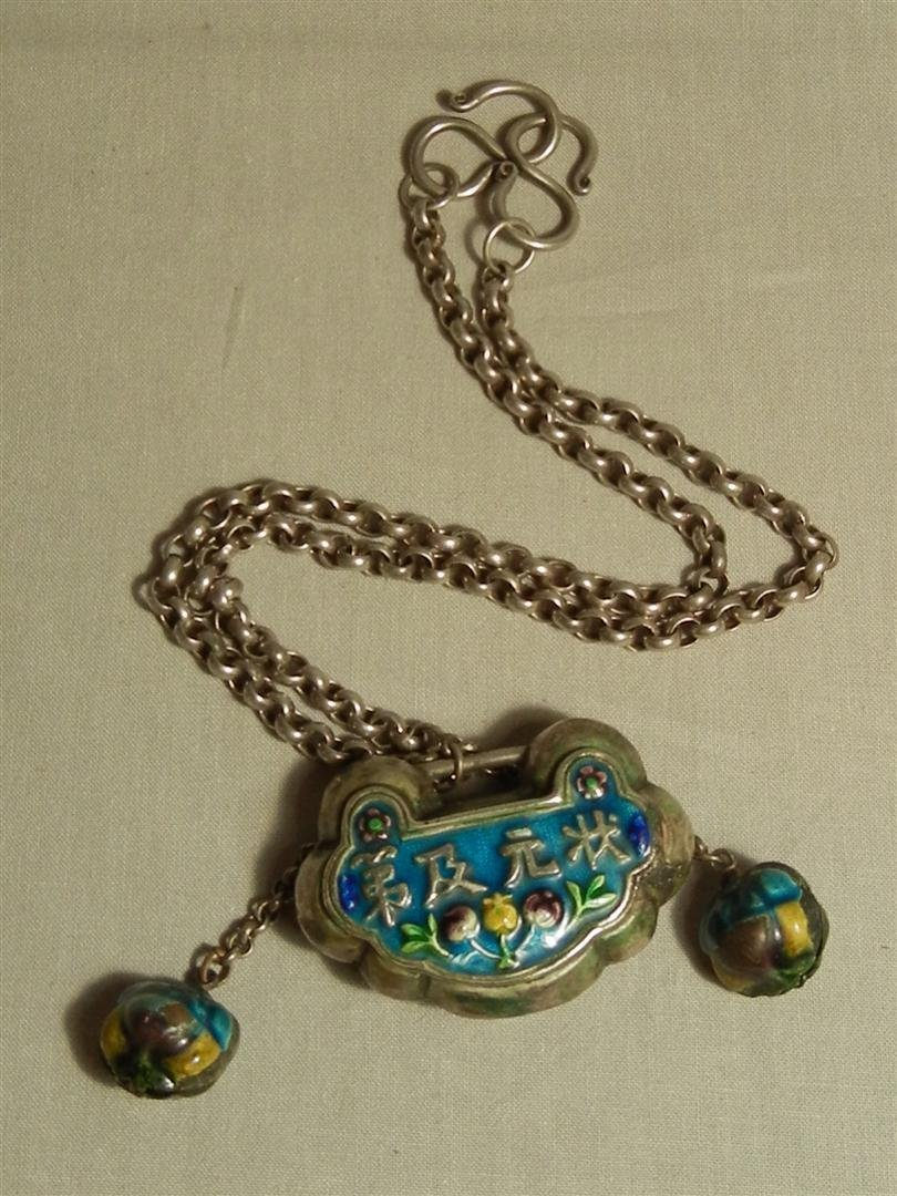 83: Chinese Silver & Enamel Necklace
