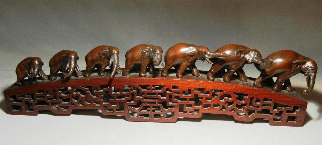 141: 20thc. Bronze Elephant Bridge