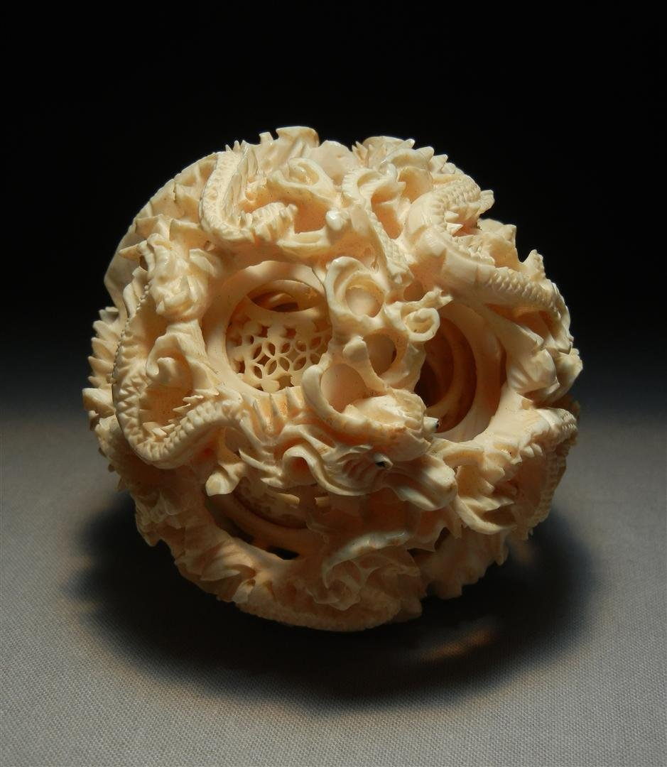 170: Chinese Carved Ivory Mystery Ball