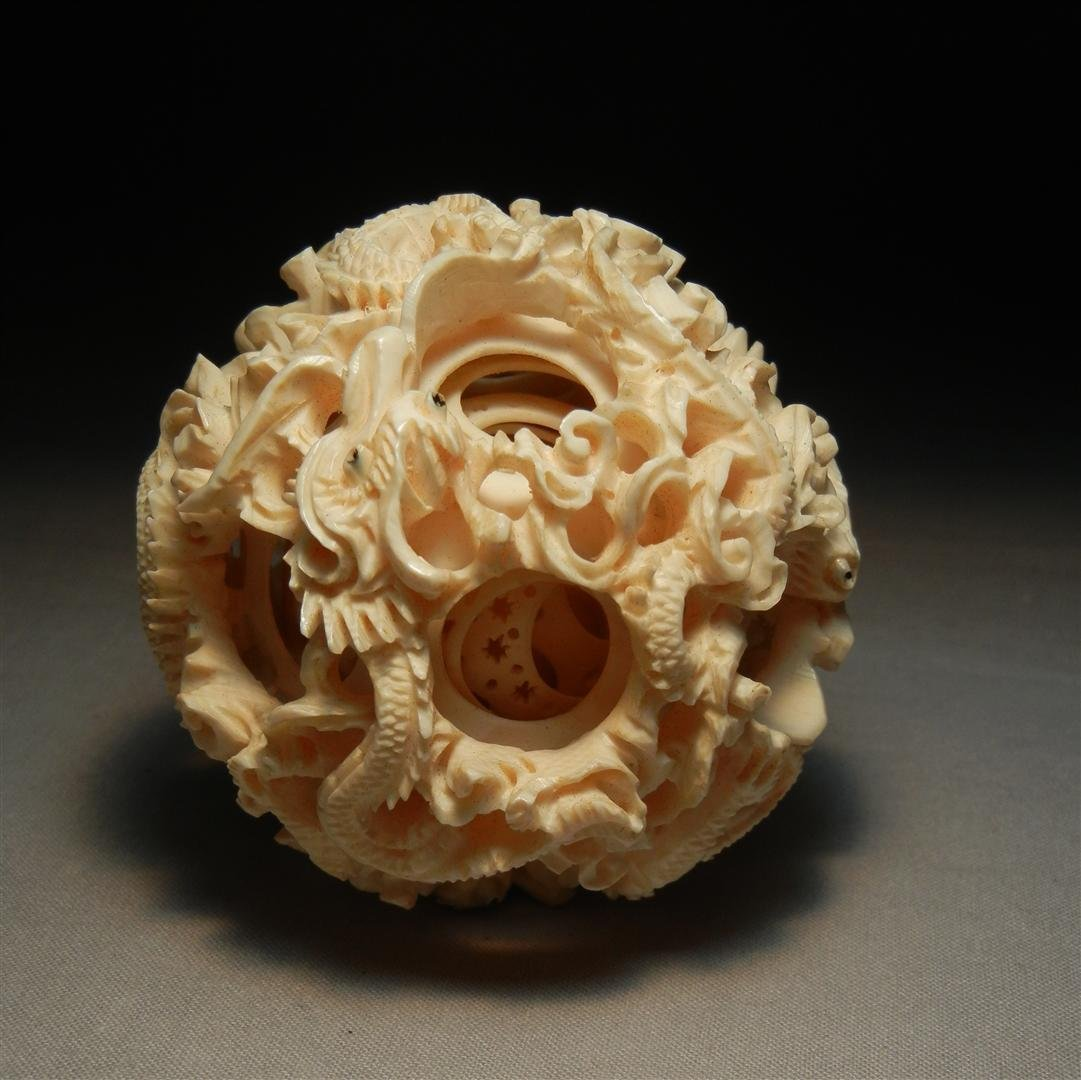 170: Chinese Carved Ivory Mystery Ball - 2