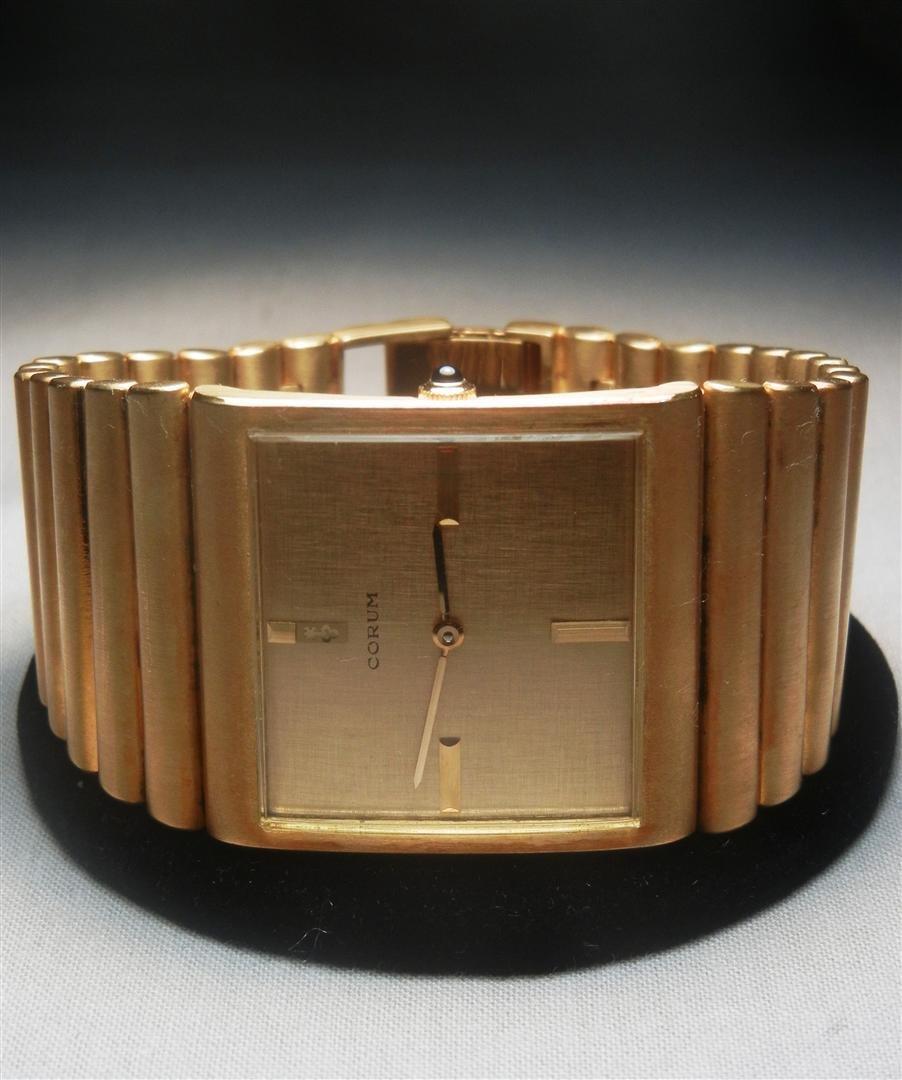 """207: 18K Heavy Gold Corum """"Spartacus"""" Watch"""
